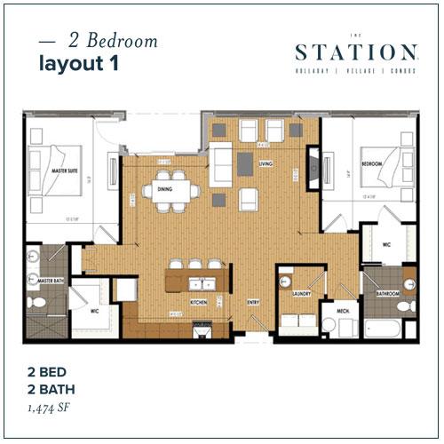 2 Bed | 2 Bath | 1,474 SF