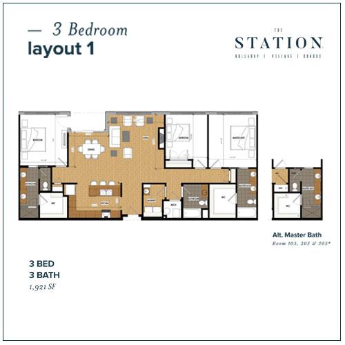 3 Bed | 3 Bath | 1,921 SF