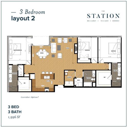 3 Bed | 3 Bath | 1,996 SF